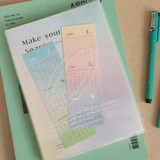 Comes with mini calendar - ICONIC 2022 Make Your Space Dated Weekly Diary Planner
