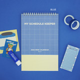 Blue - After The Rain 2022 My Schedule Keeper Monthly Desk Calendar
