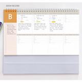 Book record - GMZ 2022 World Wide Monthly Desk Calendar Scheduler