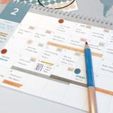 Usage example - GMZ 2022 World Wide Monthly Desk Calendar Scheduler