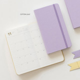 Cotton lilac - 2022 Making memory handy dated weekly planner