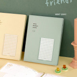 Mint Gray - ICONIC 2022 Bubbly Dated Weekly Diary Planner
