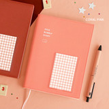 Coral pink - ICONIC 2022 Bubbly Dated Weekly Diary Planner