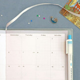 Ribbon bookmark and pen holder - ICONIC 2022 Bubbly Dated Weekly Diary Planner