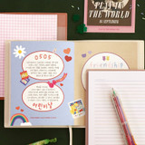 Free note - ICONIC 2022 Bubbly Dated Weekly Diary Planner