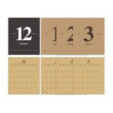 Calendar pages - 2young 2022 Kraft Monthly Desk Standing Calendar