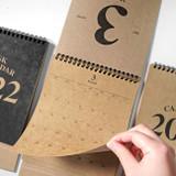 2young 2022 Kraft Monthly Desk Standing Calendar