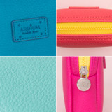 Detail view of Ten Ten small color pouch