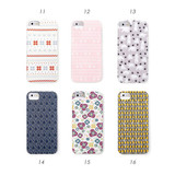 iPhone pattern phone case - snow to flower