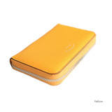 Yellow - Leather zipper card pouch case