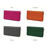 Colors of Leather zip around long wallet