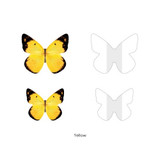 Yellow - Butterfly sticky note