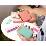 Smile flat pocket card case holder