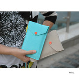 Mint - Soft chamude smartphone strap pouch