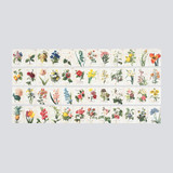 Flower romantic vintage label sticker set