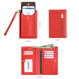 Size of Classy Smartphone flip wallet for Galaxy
