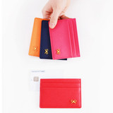Lovely ribbon flat card holder case