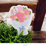 Bouquet - Holiday thank you message card