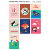 illustration thank you postcard set type 02