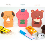 Animal stand up thank you message card