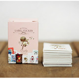 Daily romantic vintage label sticker set