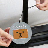 Gravity - Cute illustration travel luggage name tag ver.3