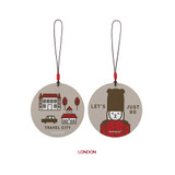 London - Cute illustration travel luggage name tag ver.3