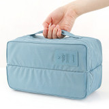 Travel divided underwear packing organizer bag