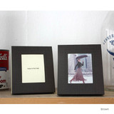 Brown - Solid photo frame message card