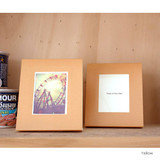 Yellow - Solid photo frame message card