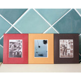 Solid photo frame message card