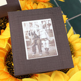 Detail view of Solid photo frame message card