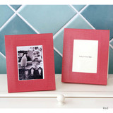 Red - Solid photo frame message card