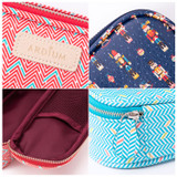 Detail of Colorful pattern block pencil case pouch