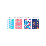 Patterns of Colorful pattern block pencil case pouch