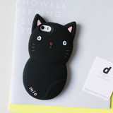 Black - Monomate cute cat iPhone 5/5S jelly case