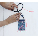 Size of Ololo pattern flat card holder case small