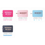 Colors of Dreaming traveler luggage name tag
