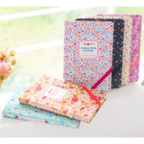 Premium flower pattern nature undated journal diary