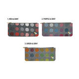Colors of Pony circle pattern flat pouch pencil case