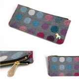 Detail of Pony circle pattern flat pouch pencil case