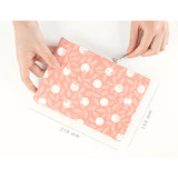 Size of Promenade flower pattern daily pouch