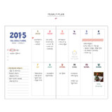 Yearly plan - 2015 Smiley dated diary