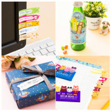 Detail of Cute animal sticky memo notes set