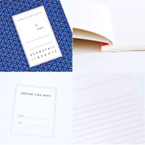 Detail of Geometric pattern lined notebook large