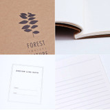 Detail of Kraft forest nature lined notebook large