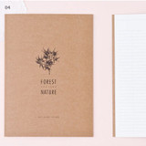 4 - Kraft forest nature lined notebook large
