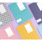 Geometric pattern lined notebook small