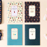 Scandinavia pattern lined notebook small