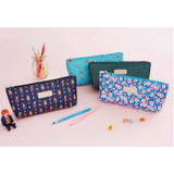 Pattern soft stand up zipper pencil case